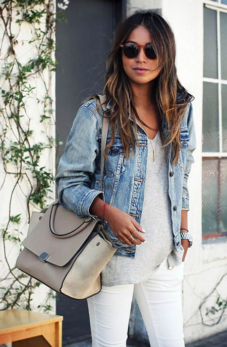 White Jacket Jean Denim
