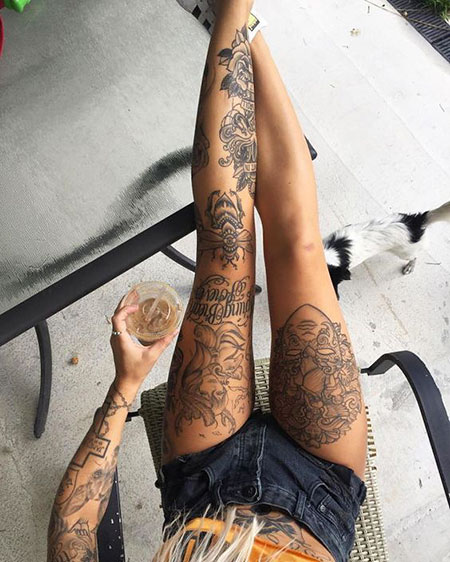 Tattoos Tattoo Henna Leg