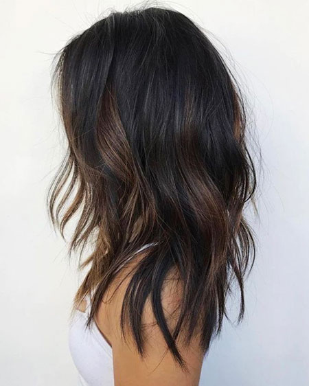 Highlights Wavy Brown Layered