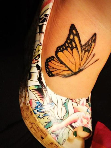 Butterfly Tattoo Foot Top