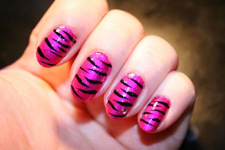 Nail Zebra Pink Nails