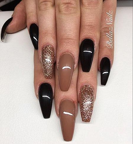 Nails Nail Brown French