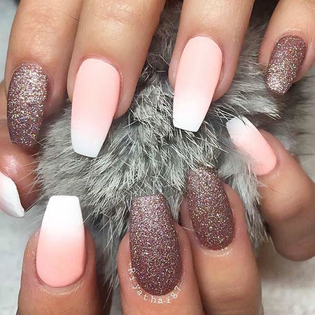 Nails Ombre Matte Coffin