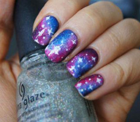 Nail Galaxy Cool Art