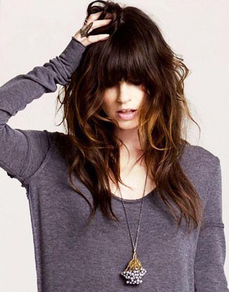 Hair Long Layers Bangs