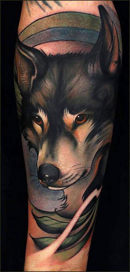 Wolf Art Tattoo Great