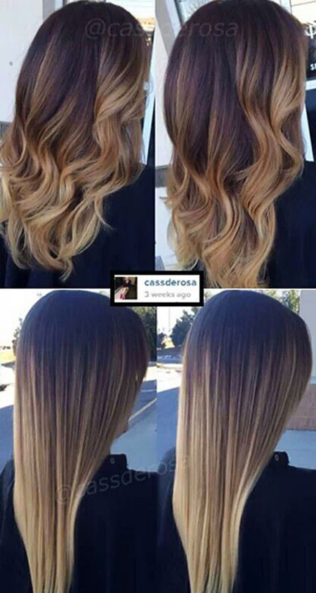 Hair Ombre Balayage Color