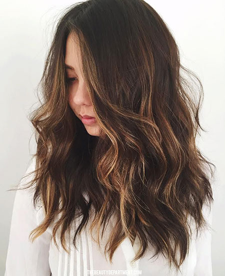 Hair Balayage Highlights Brunette