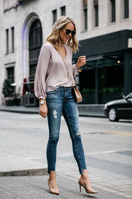 Jeans Fashion Style White