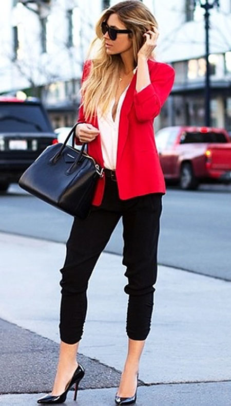 Red Business Outfits Style