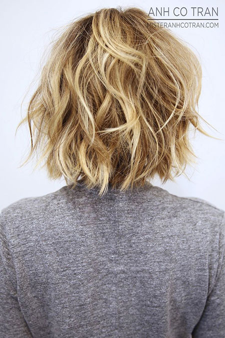 Hair Bob Messy Blonde