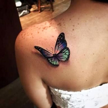 Butterfly Tattoo 3D Women