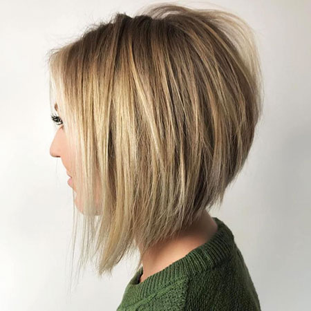 Blonde Bob Stacked Bobs