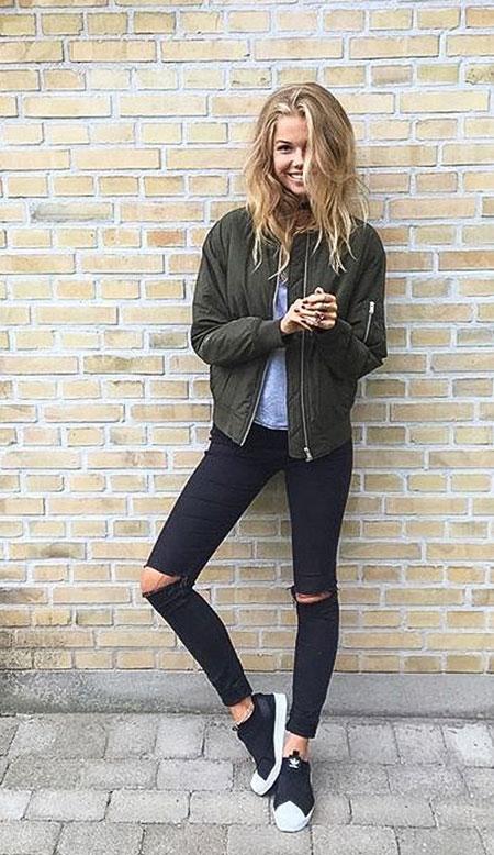Fashion Style Black Jeans