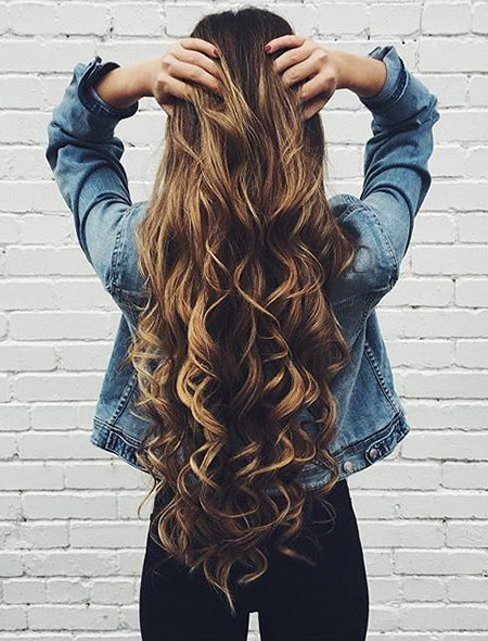 Curl for Very Long Hair, Hair Long Styles Messy