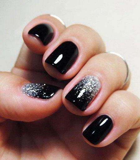 Easy Glittered Nail Art, Glitter Nail Nails Black