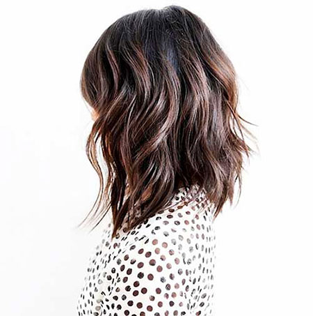 Lob with Wavy Layers, Hair Wavy Bob Layers