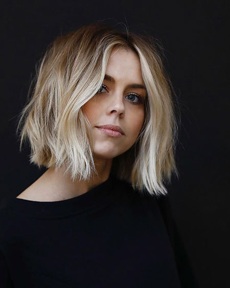 Medium Blonde Bob Hair, Hair Long Choppy Bob