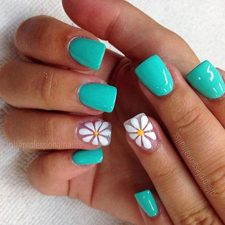 Blue Summer Nails, Nail Heart Designs Art