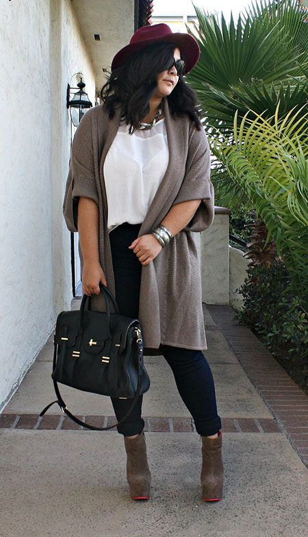 Plus Size Outfit for Women, Chunky Plus Style Fall