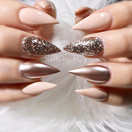 Stiletto Glittered Nails, Nails Nail Stiletto Designs
