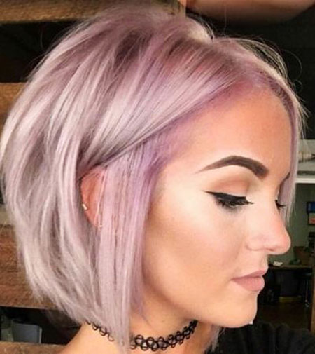 Short Pink Blonde Hairtyle for Thin Hair, Hair Blonde Short Thin