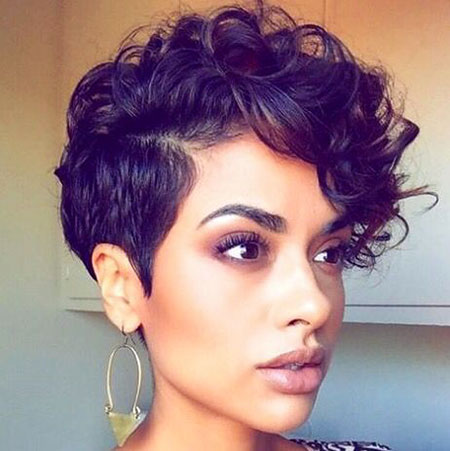 Short Hairtyle Curls, Short Pixie Curly Hair