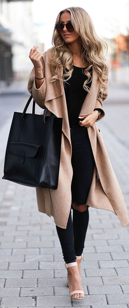 Classy Trench Coat Outfit, Fashion Outfits Fall Winter