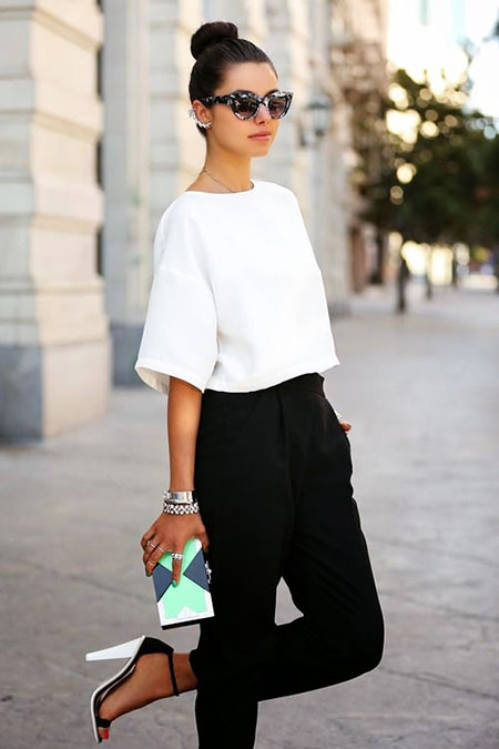 2018 Street Style Summer, Fashion White Black Summer