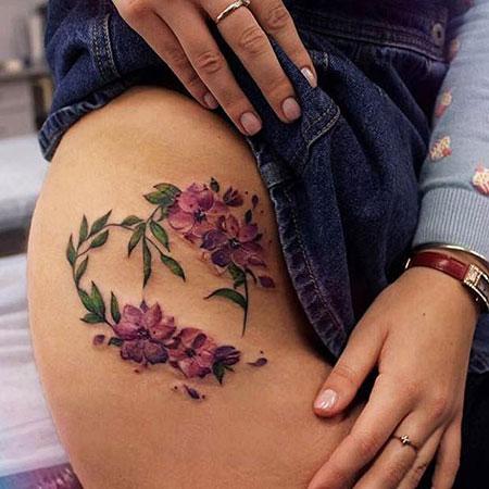 Unique Flower Tattoo for Women, Tattoo Thigh Flower Women