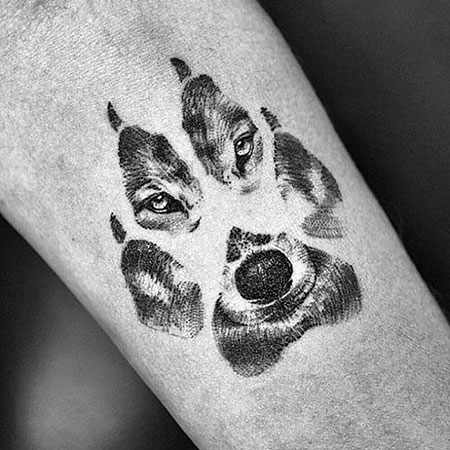 Wolf Paw Print Tattoo Idea, Wolf Paw Tattoo De