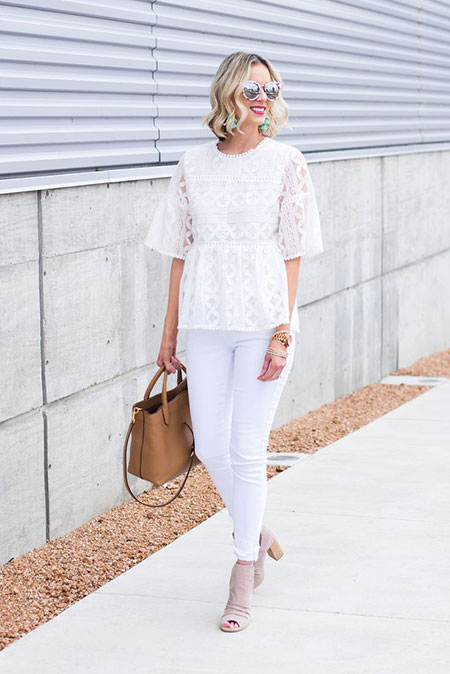 White Jeans Outfits Style