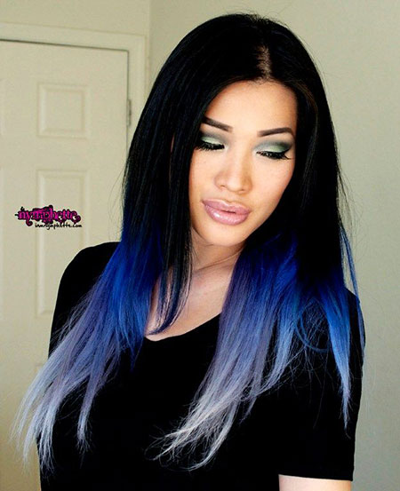 Hair Color Blue Black