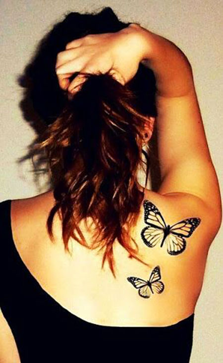 Hair Tattoo Butterfly Love