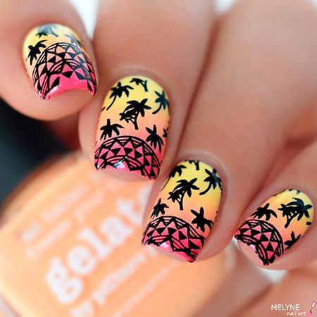 Nail Nails Summer Tropical