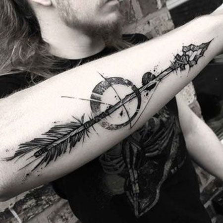 Arrow Tattoo Tattoos Forearm