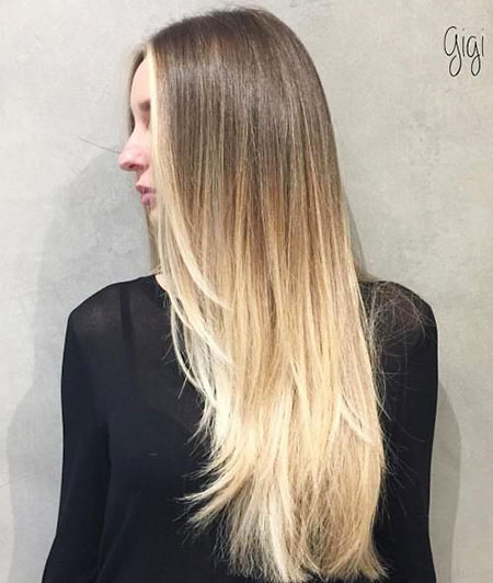 Hair Long Thin Blonde