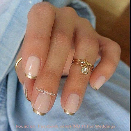 French Nail Gold Designs