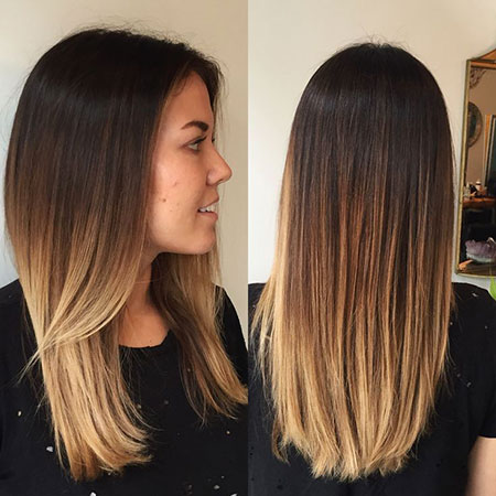Hair Straight Ombre Blonde