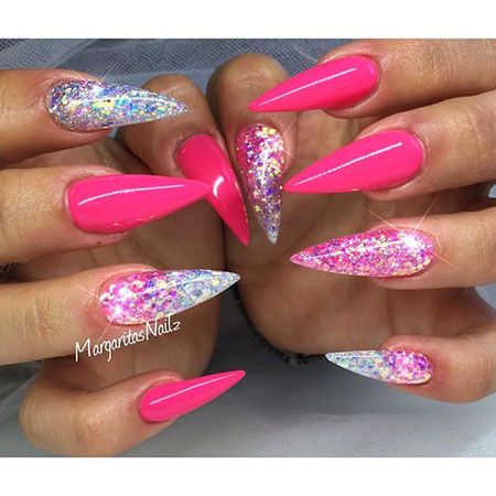 Nails Stiletto Nail Pink
