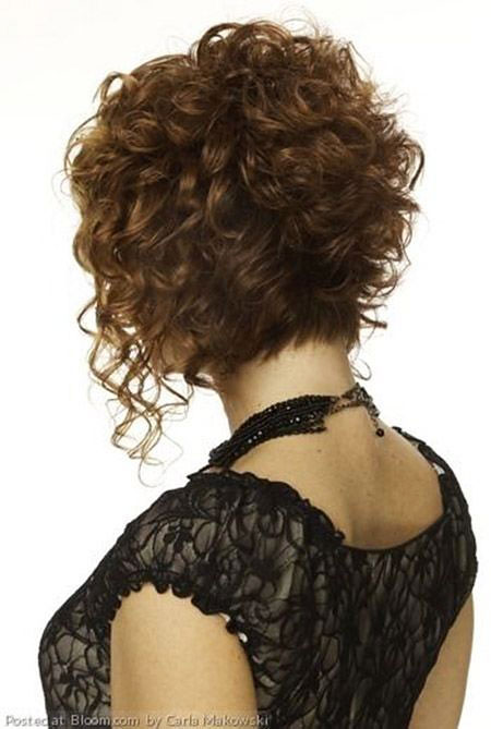 Curly Bob Short Brunette