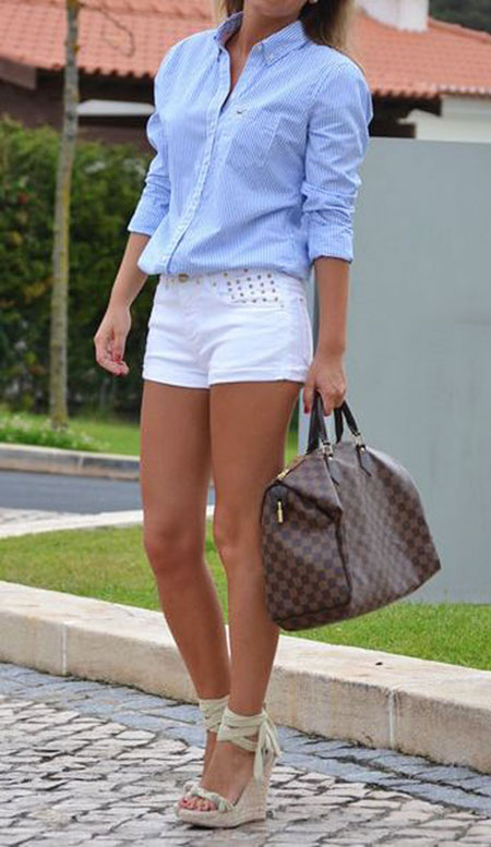 Style Blue Outfits Short