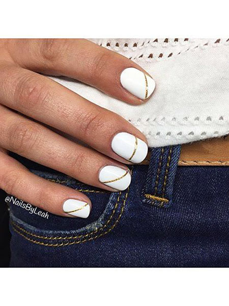 Nail Summer White Designs