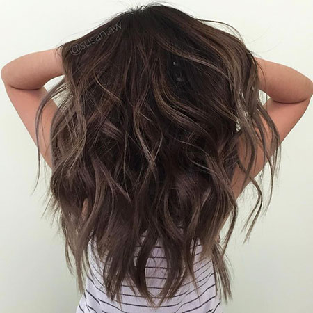 Brown Wavy Length Dyed