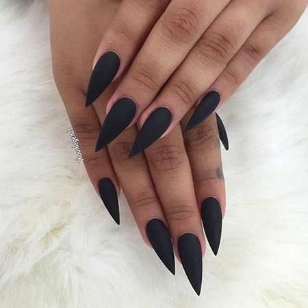 Nails Black Stiletto Nail