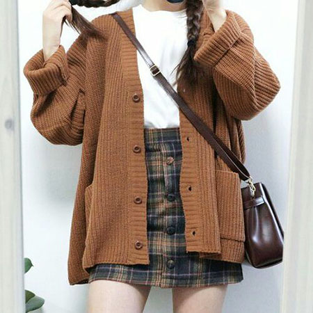 Fashion Cardigan Page Asian