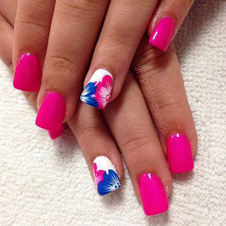Nail Flower Abstract Nails