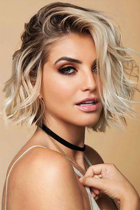 Hair Blonde Short Makeup