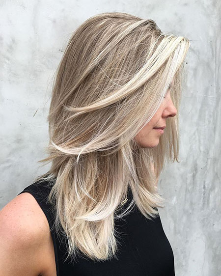 Blonde Hair Balayage Shag