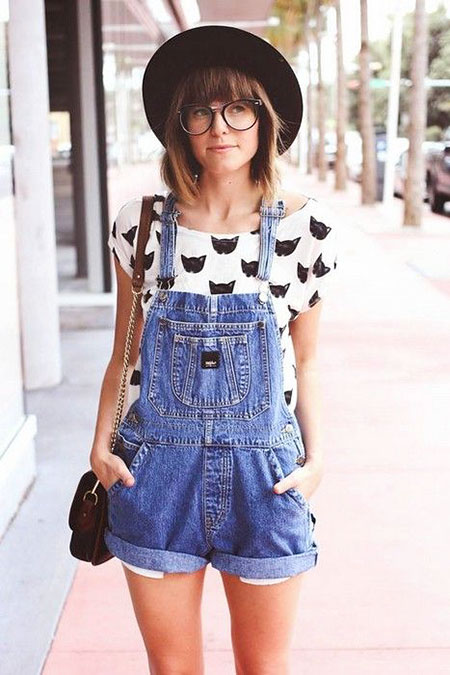 Denim Cute Style Overalls